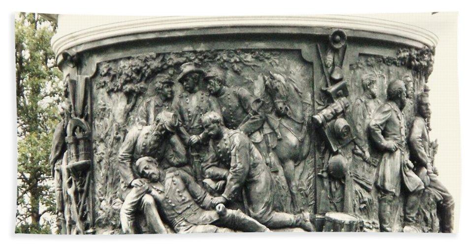 Gettysburg Beach Towel featuring the photograph Gettysburg Monument by Eric Schiabor