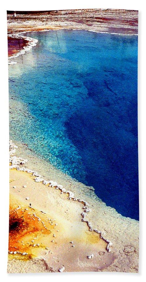 Geyser Beach Sheet featuring the photograph Geyser Basin by Nancy Mueller