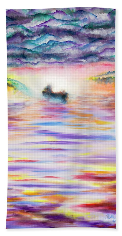 Ghost Beach Towel featuring the painting Ghost by Joe Baltich