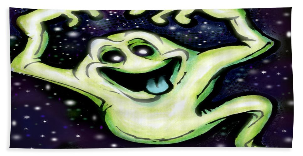 Halloween Beach Towel featuring the painting Ghost by Kevin Middleton