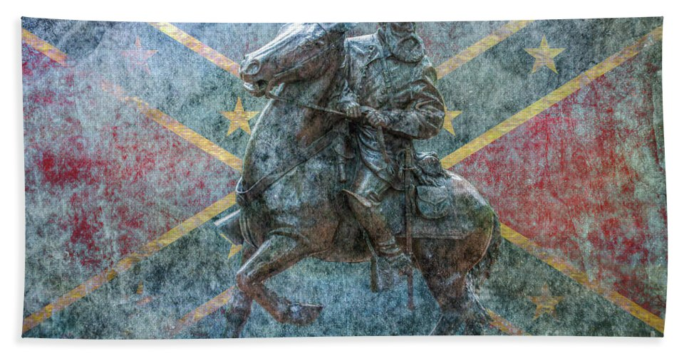 Ghost Of Gettysburg Beach Towel featuring the digital art Ghost Of Gettysburg Verson Three by Randy Steele