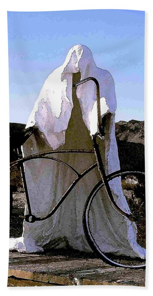 Ghost Beach Towel featuring the photograph Ghost Rider by Nelson Strong