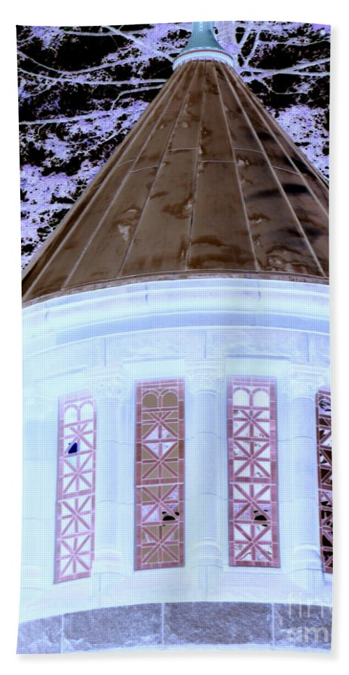 Buildings Beach Towel featuring the photograph Ghostly Heights Manor by Angela L Walker