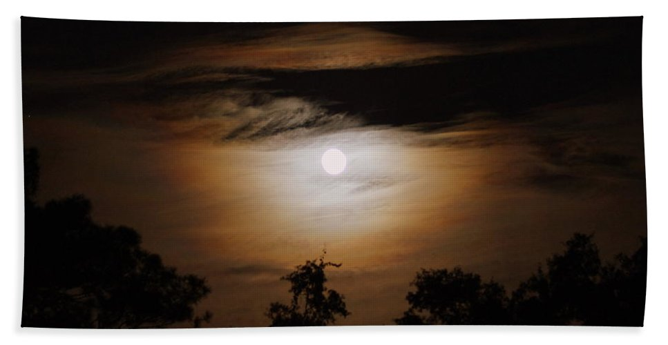 Moon Beach Towel featuring the photograph Ghosts Around The Moon by Paul Wilford