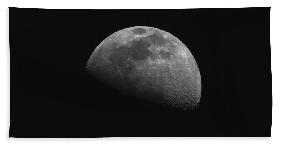 Moon Beach Towel featuring the photograph Gibbous Moon by Phillip Jones
