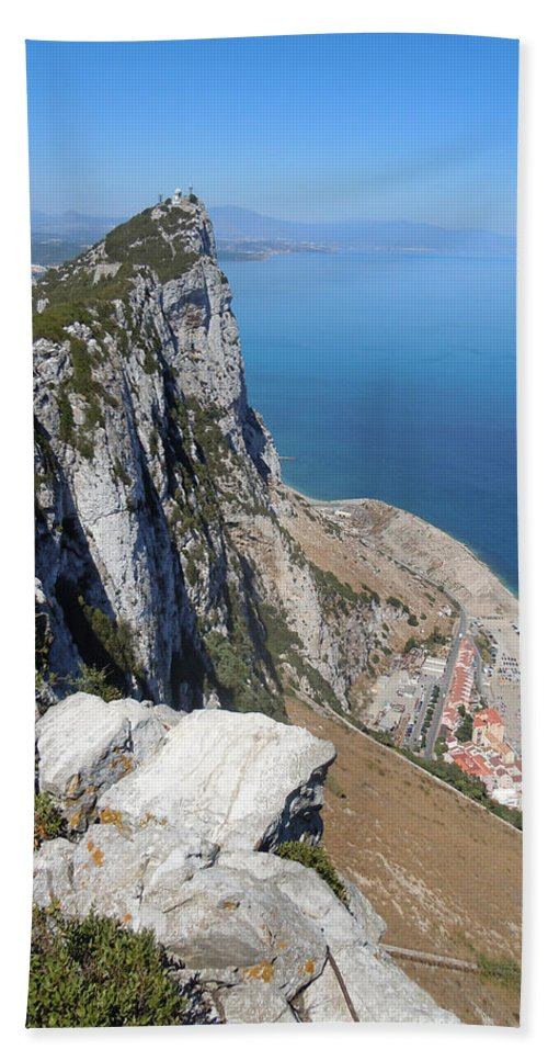 Europe Beach Towel featuring the photograph Gibraltar by Heather Coen