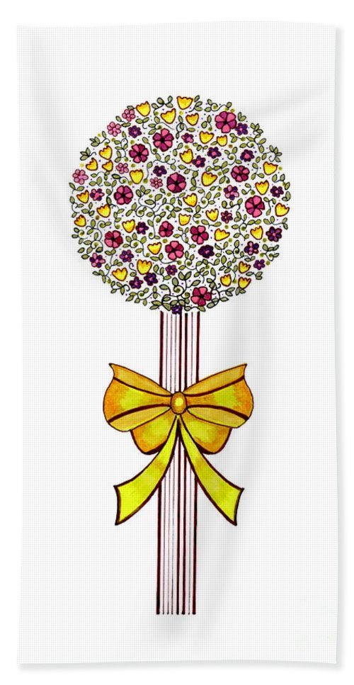 Happiness Beach Towel featuring the drawing Gift Of Happiness by Arti Caz