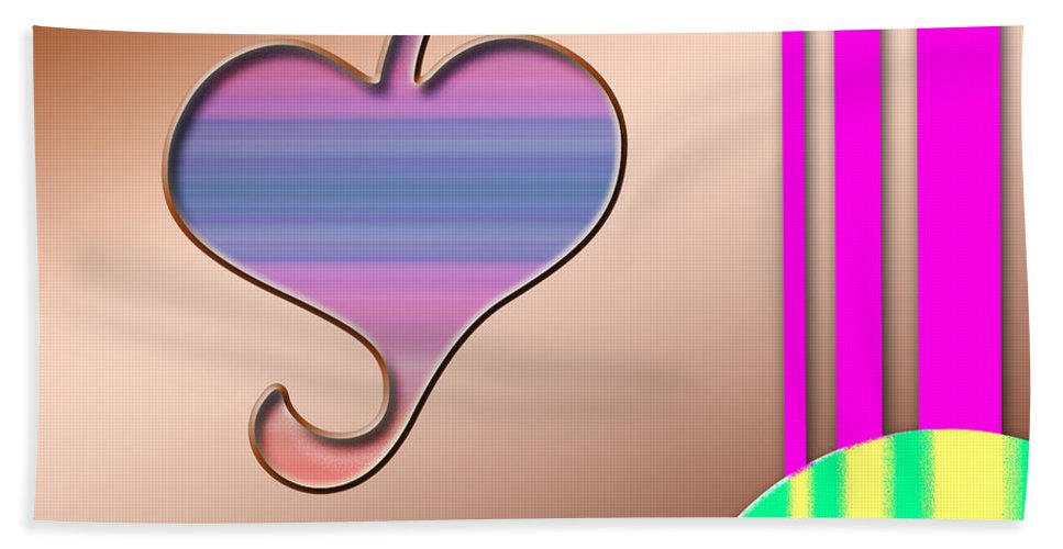 Clay Beach Towel featuring the digital art Gift Of Love by Clayton Bruster