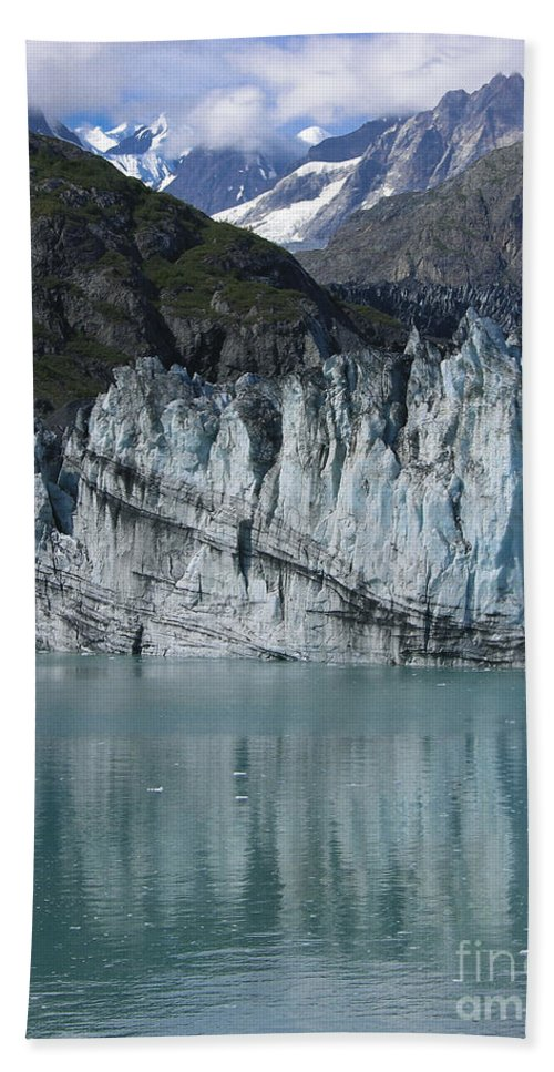 Glacier Bay Beach Towel featuring the photograph Glacier Bay Majesty by Sandra Bronstein