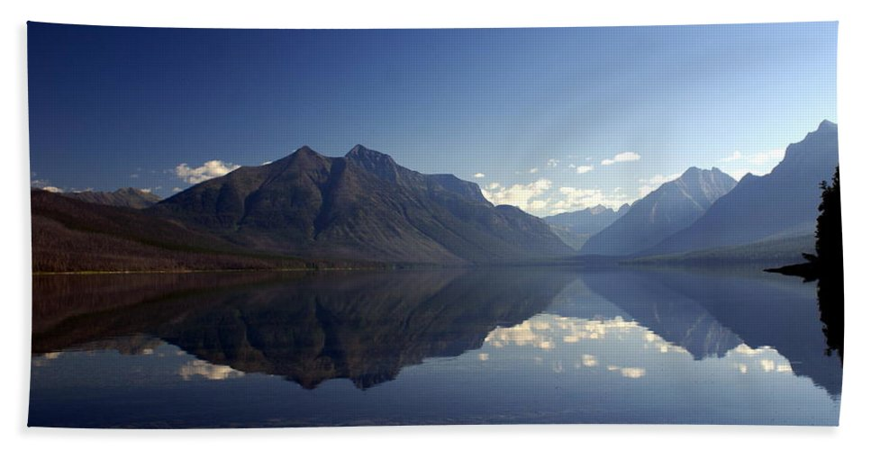 Glacier National Park Beach Towel featuring the photograph Glacier Reflections 2 by Marty Koch