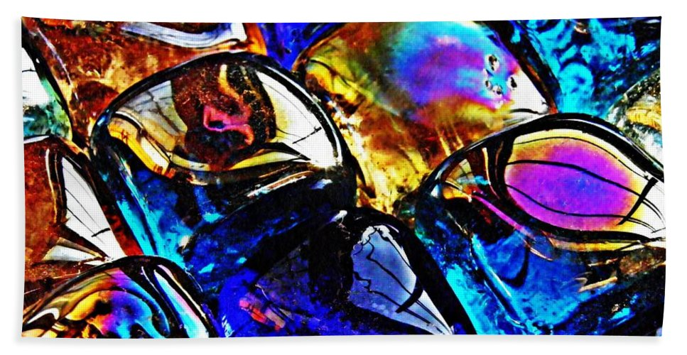 Glass Beach Towel featuring the photograph Glass Abstract 11 by Sarah Loft