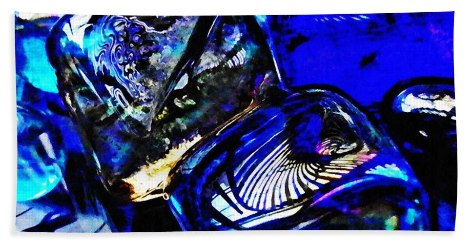 Abstract Beach Towel featuring the photograph Glass Abstract 14 by Sarah Loft