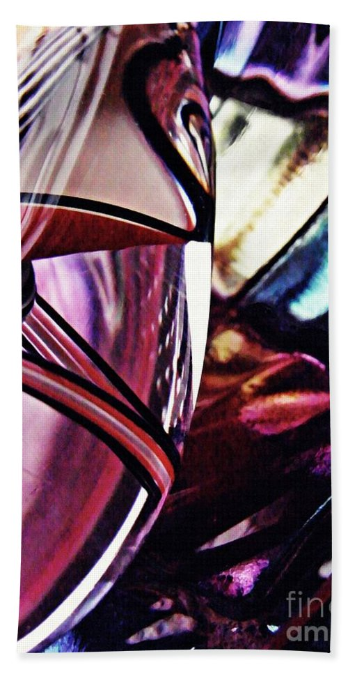 Glass Beach Towel featuring the photograph Glass Abstract 523 by Sarah Loft