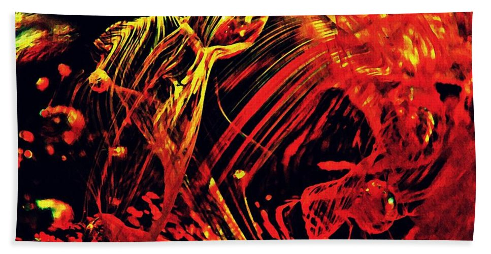 Abstract Beach Towel featuring the photograph Glass Abstract 623 by Sarah Loft