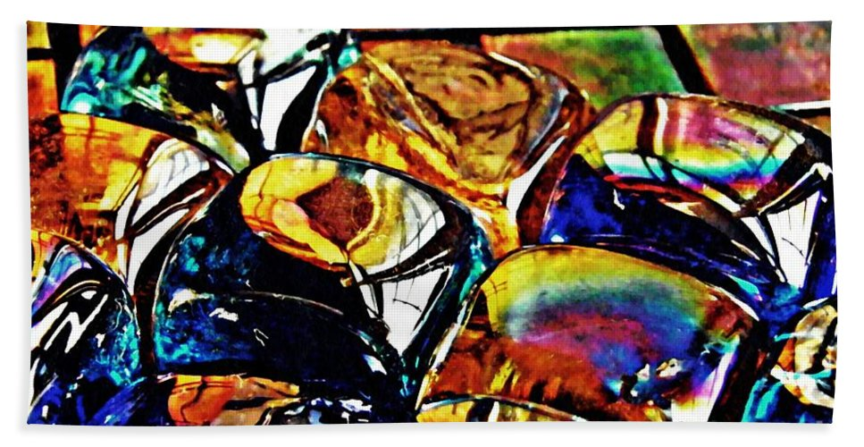 Glass Beach Towel featuring the photograph Glass Abstract by Sarah Loft
