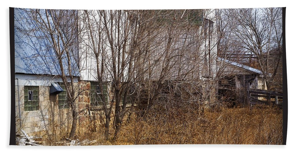 Barn Beach Sheet featuring the photograph Glass Block by Tim Nyberg