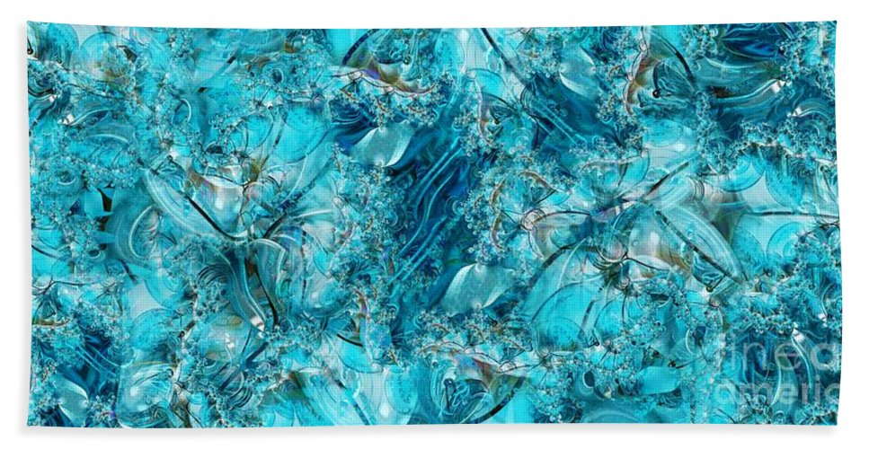 Collage Beach Towel featuring the digital art Glass Sea by Ron Bissett