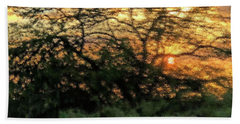 Sunset Beach Towel featuring the photograph Glass Sunset Hawaii by Heather Coen
