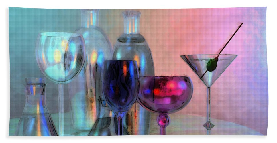 3d Beach Towel featuring the digital art Glassy Still Life by Jutta Maria Pusl