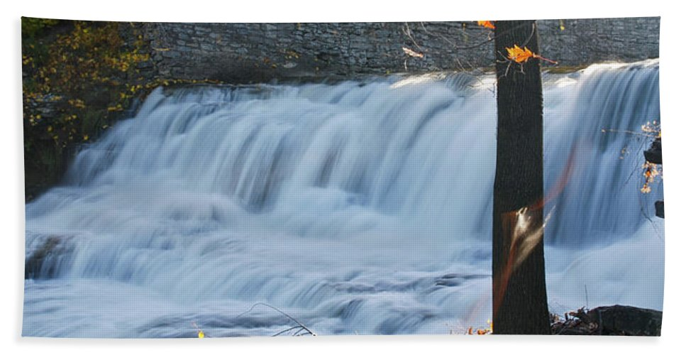 Water Beach Towel featuring the photograph Glen Falls 8956a by Guy Whiteley
