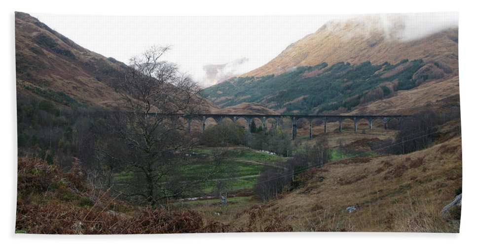 Harry Potter's Viaduct Beach Towel featuring the photograph Glen Finnian Viaduct by Maria Joy