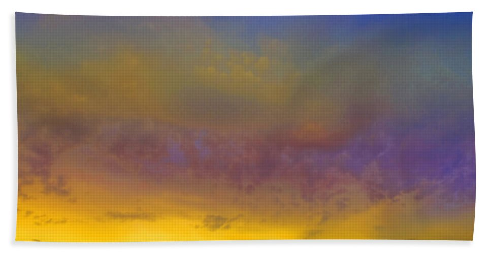 Sunset Beach Towel featuring the photograph Glorious Skies by Tara Turner