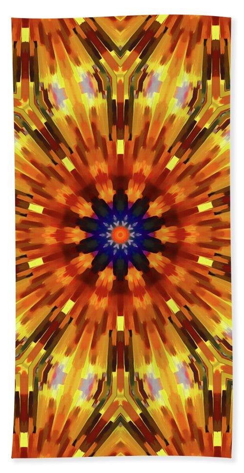 Mandala Art Beach Towel featuring the painting Glory by Jeelan Clark