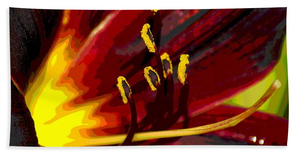 Photo Art Beach Towel featuring the photograph Glowing Flower Power by Ben Upham III