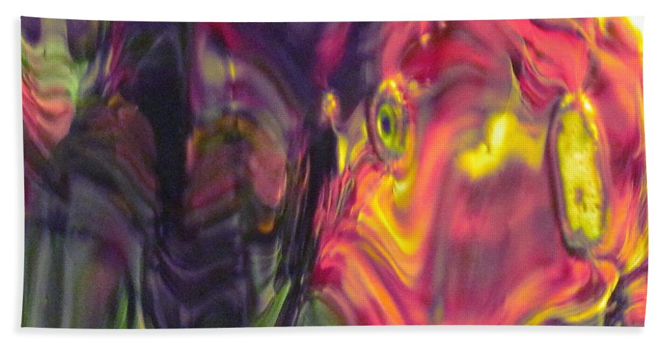 Abstract Beach Towel featuring the photograph Trickster Goblins Of Our Minds by Sybil Staples