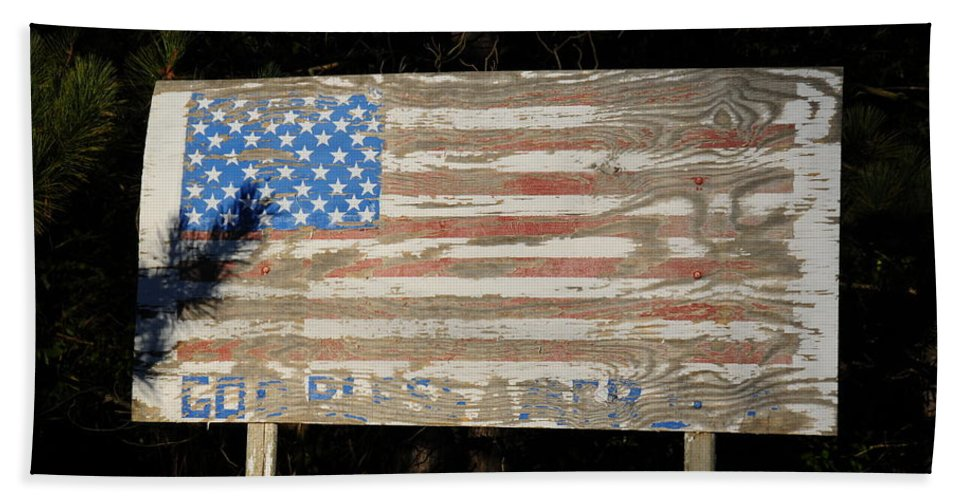 God Bless America Beach Towel featuring the photograph God Bless America by David Arment