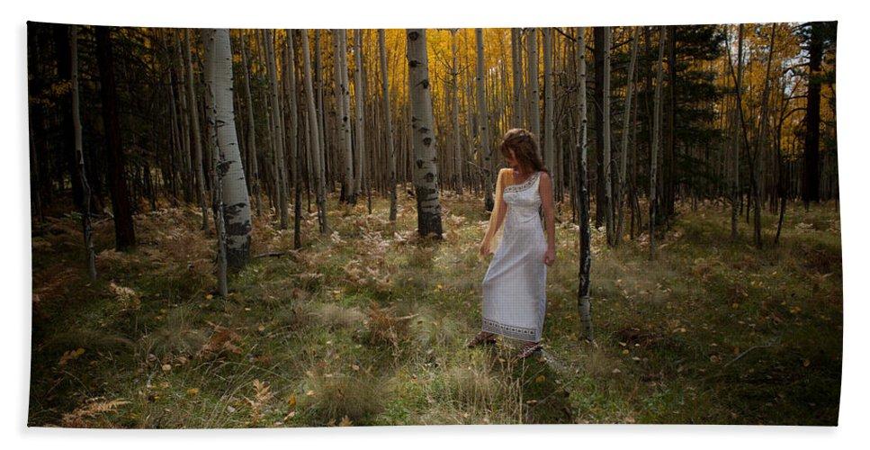 Woman Beach Towel featuring the photograph Goddess Walk by Scott Sawyer