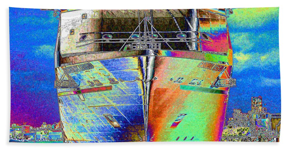 Cruise Ship Beach Towel featuring the photograph Going Cruising by Carol Groenen