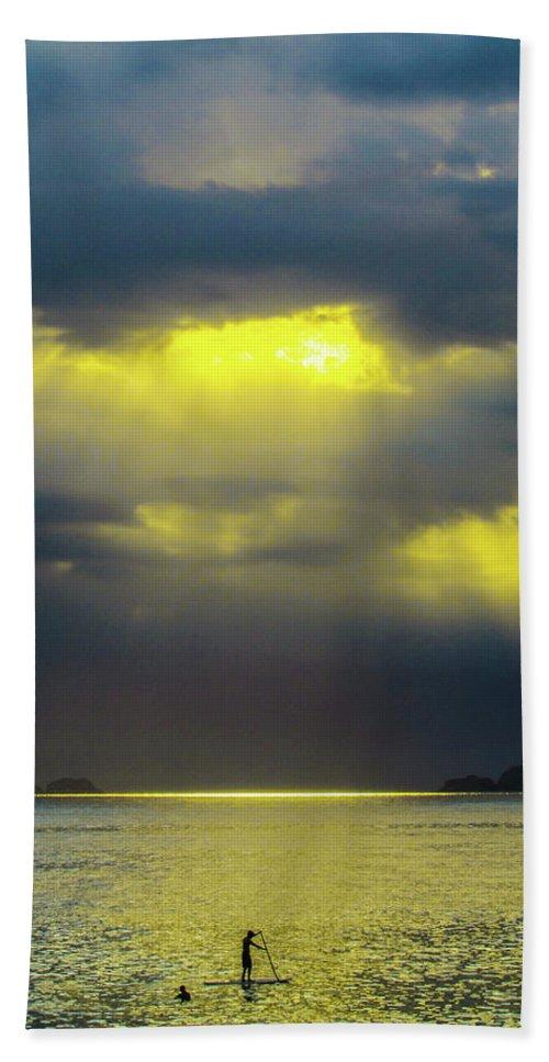 Ipanema Beach Beach Towel featuring the photograph Gold Hour by Cesar Vieira
