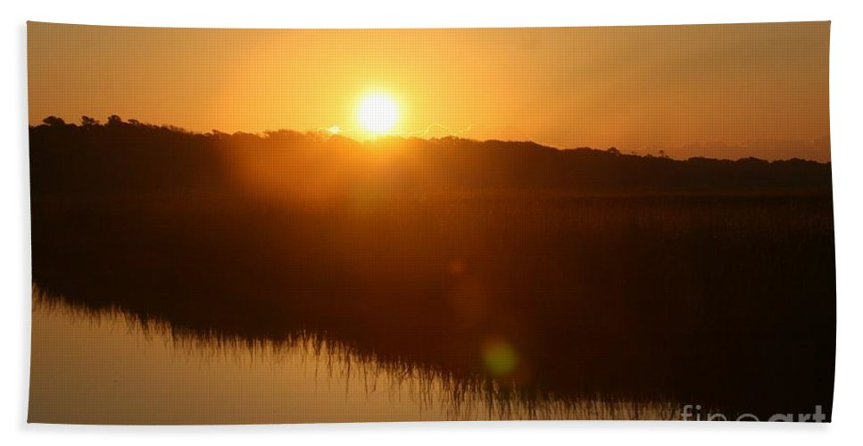 Glow Beach Towel featuring the photograph Gold Morning by Nadine Rippelmeyer