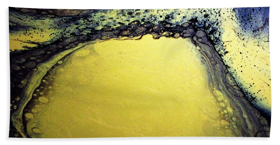 Gold Beach Towel featuring the painting Gold Underground by Van Maulding