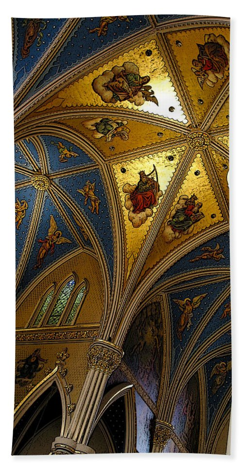 Interior Beach Towel featuring the photograph Golden Dome by Mykel Davis