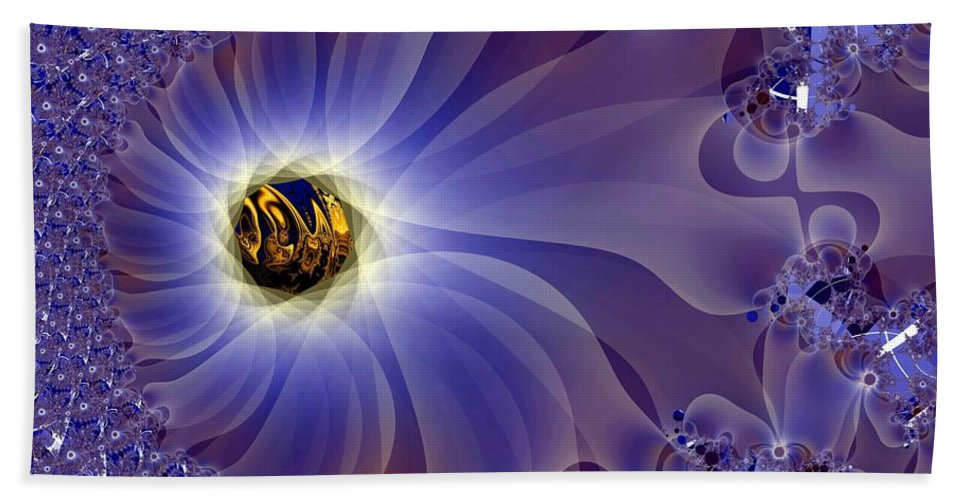 Eye Beach Towel featuring the digital art Golden Eye by Ron Bissett