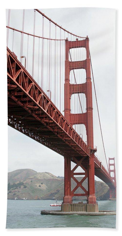 Golden Gate Bridge Beach Towel featuring the photograph Golden Gate Bridge by Masha Batkova