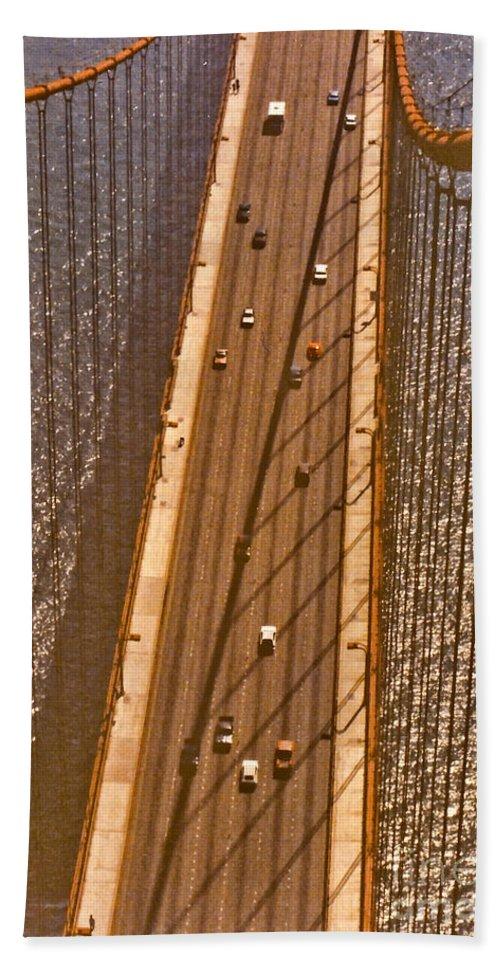 Golden Beach Towel featuring the photograph Golden Gate Bridge by Thomas Marchessault