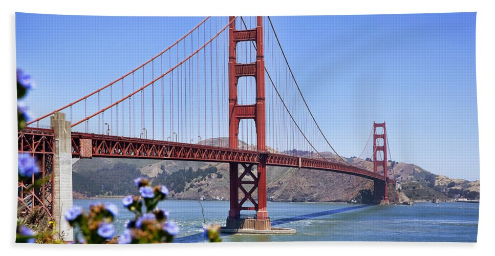 Golden Gate Beach Towel featuring the photograph Golden Gate by Kelley King