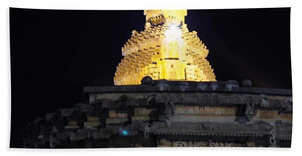 Temple Beach Towel featuring the photograph Golden Hours by Satish Kumar