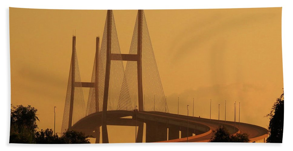 Architecture Beach Towel featuring the photograph Golden Isles  by Laura Ragland