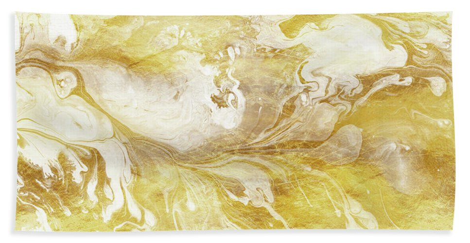 2ebef6782e9 Golden Marble II Gold And White Abstract Art Beach Towel for Sale by Tina  Lavoie