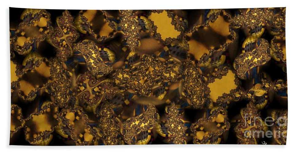 Fractal Beach Towel featuring the photograph Golden Shimmer by Ron Bissett