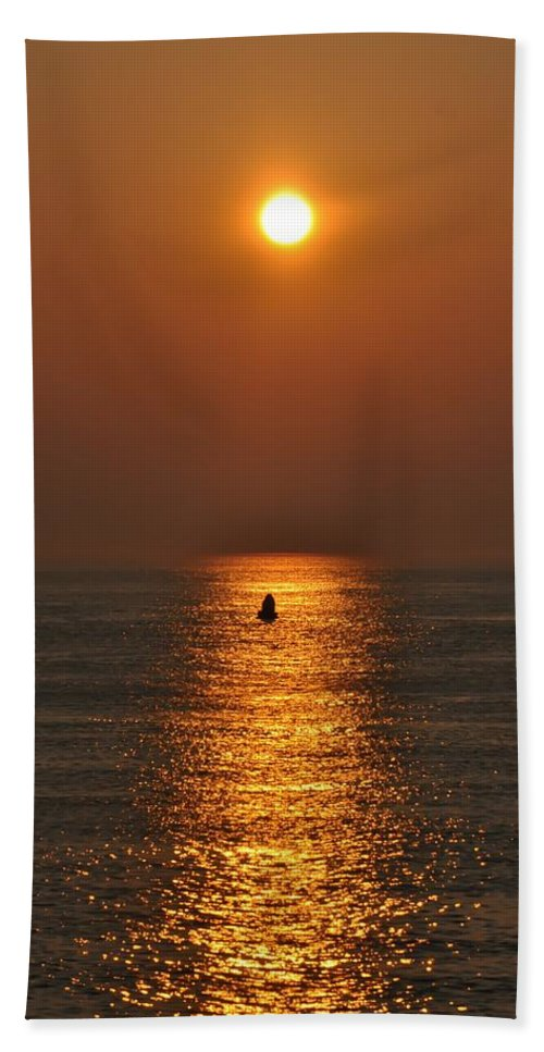 Sunrise Beach Towel featuring the photograph Golden Sun by Bill Cannon