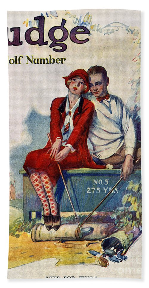 1925 Beach Towel featuring the photograph Golfing: Magazine Cover by Granger
