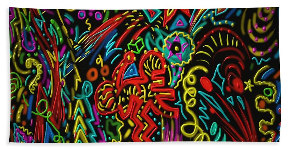 Stars Beach Towel featuring the painting Gone Wild by Kevin Caudill