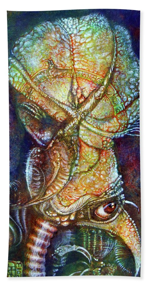 Otto Rapp Beach Towel featuring the painting Gonzo Is That You by Otto Rapp