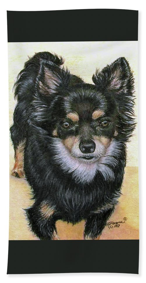 Fuqua Gallery-bev-artwork Beach Towel featuring the drawing Good Golly Miss Molly by Beverly Fuqua