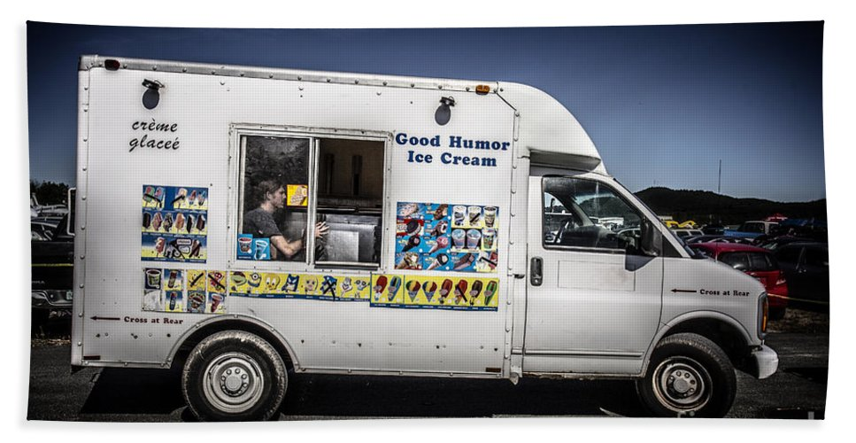 Good Beach Towel featuring the photograph Good Humor Ice Cream Truck by Edward Fielding